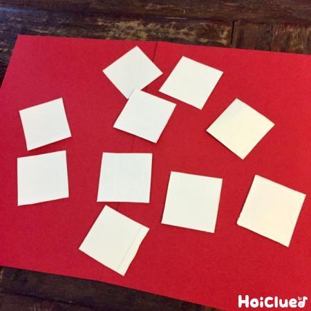 牛乳パックを正方形に切った写真