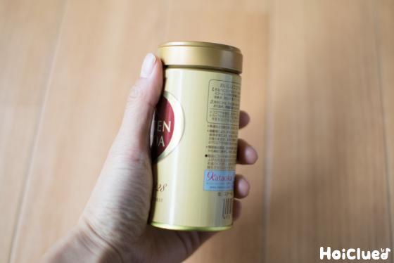 ココアの空き缶の写真