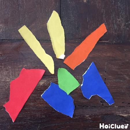 折り紙を破いた写真