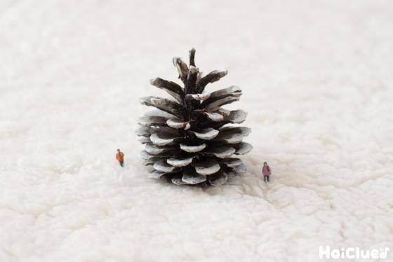 【工作コラム】まつぼっくりで作る、小さなクリスマスツリー〜素材/まつぼっくり