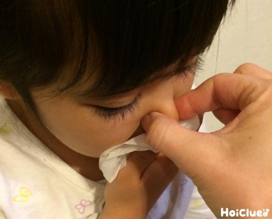 鼻を塞いている写真