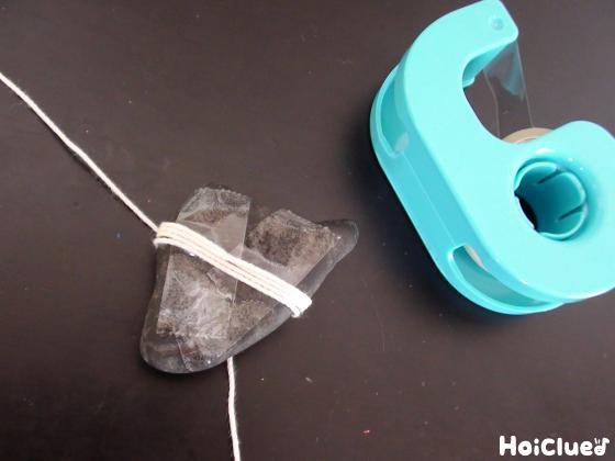 セロハンテープを貼った石