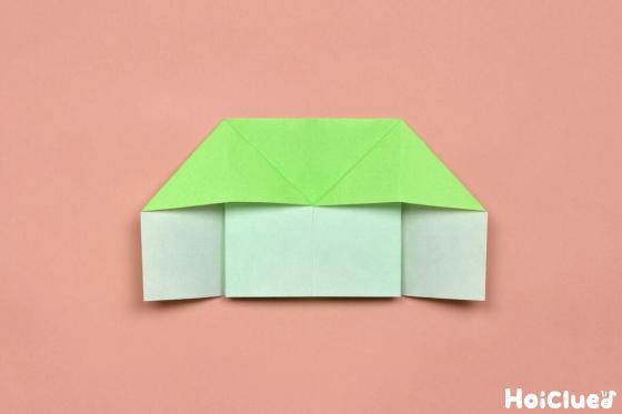 もう片側も同様に開いた折り紙