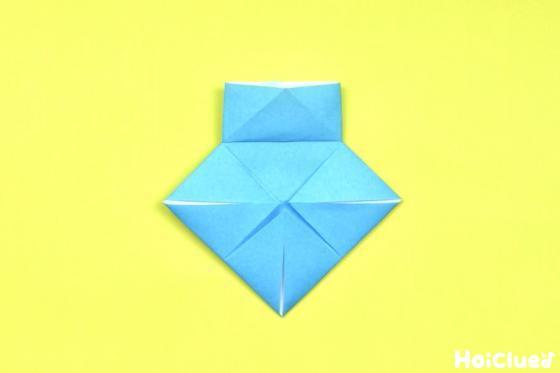 袋の部分を開いてつぶすように折った写真