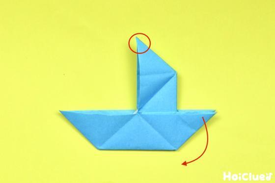 出来上がった帆のある船