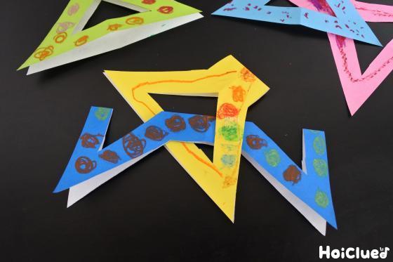 折り紙を組み合わせた写真
