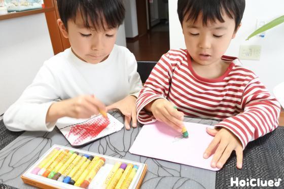絵を描いている様子
