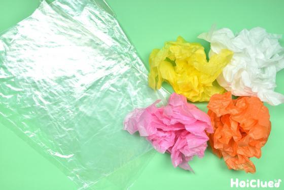 丸めた花紙の写真