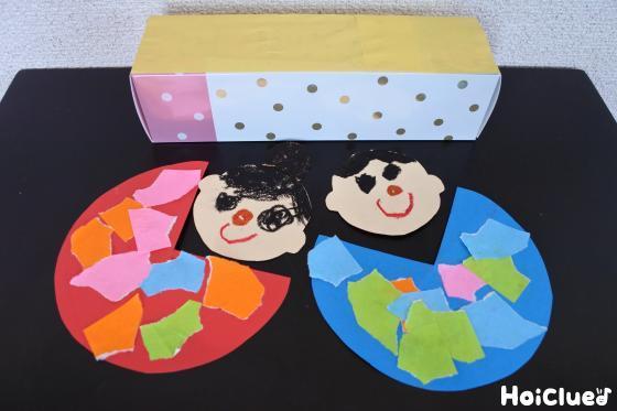 織姫と彦星の色画用紙と空き箱の写真