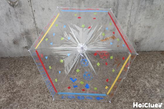 完成したオリジナル傘の写真