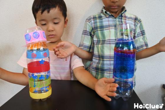 ペットボトルと子ども二人