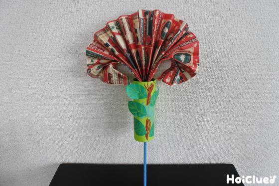 包装紙で作れる☆パッと開くびっくりお花