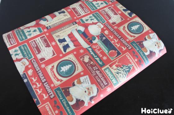 サンタ柄の包装紙