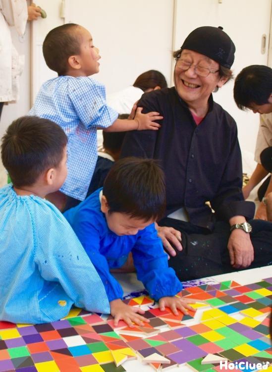 和久洋三さんと子どもたち