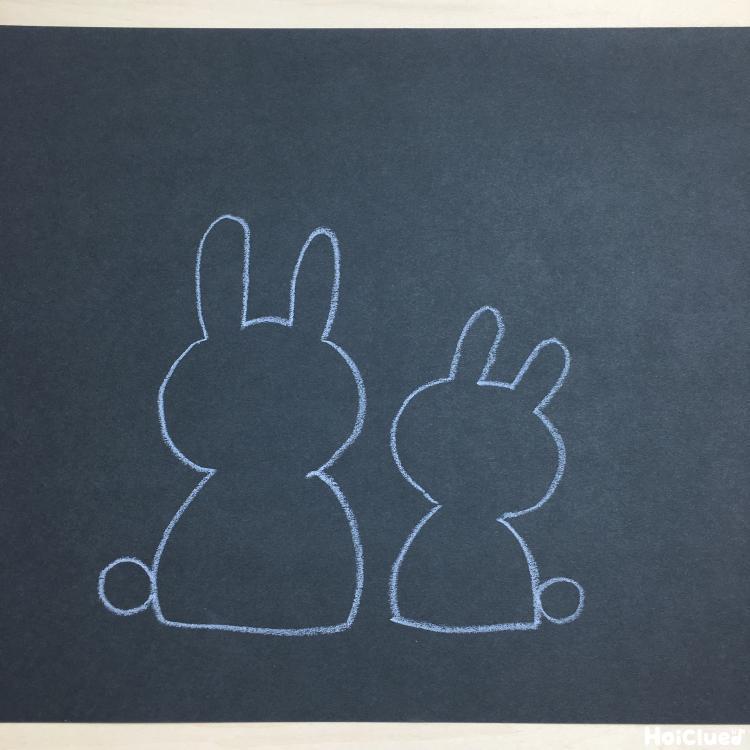 ウサギの絵を描いた写真