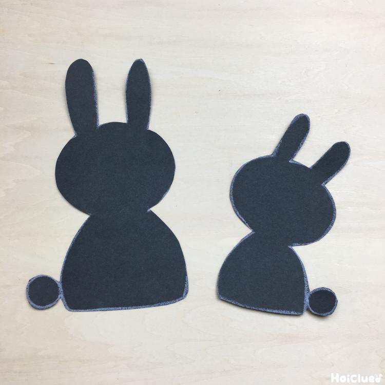 ウサギの形に切り取った写真