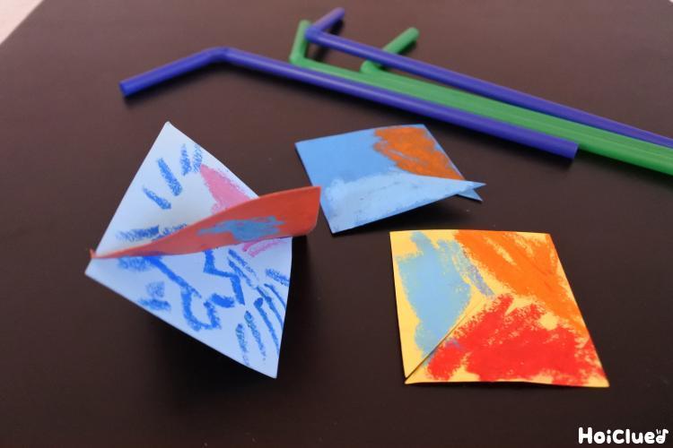 クルクル回る吹きぐるま〜2つの材料、3ステップで楽しめる手作りおもちゃ〜