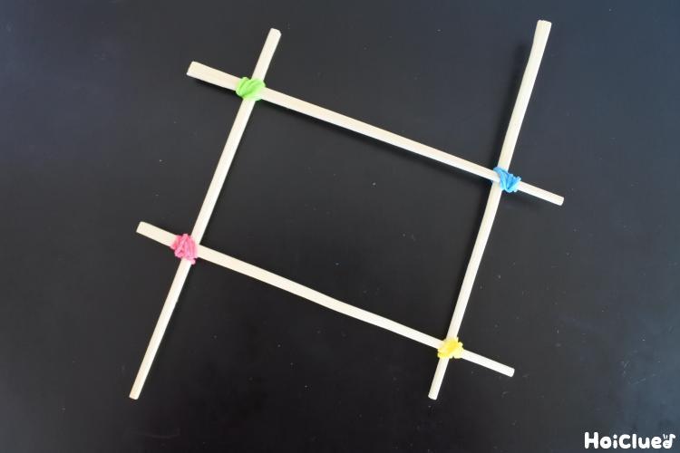 割り箸を結びつけた写真