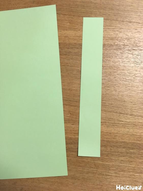 画用紙を細く切った写真
