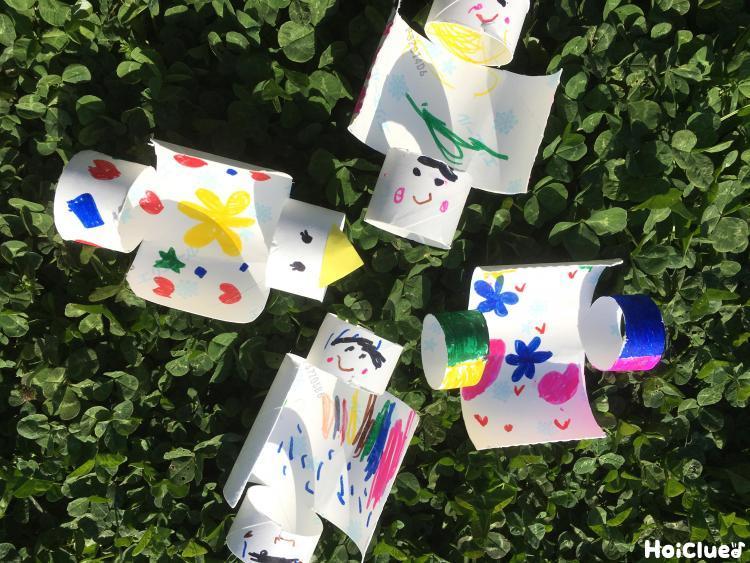トイレットペーパーの芯de紙飛行機〜材料1つで楽しめる手作りおもちゃ〜