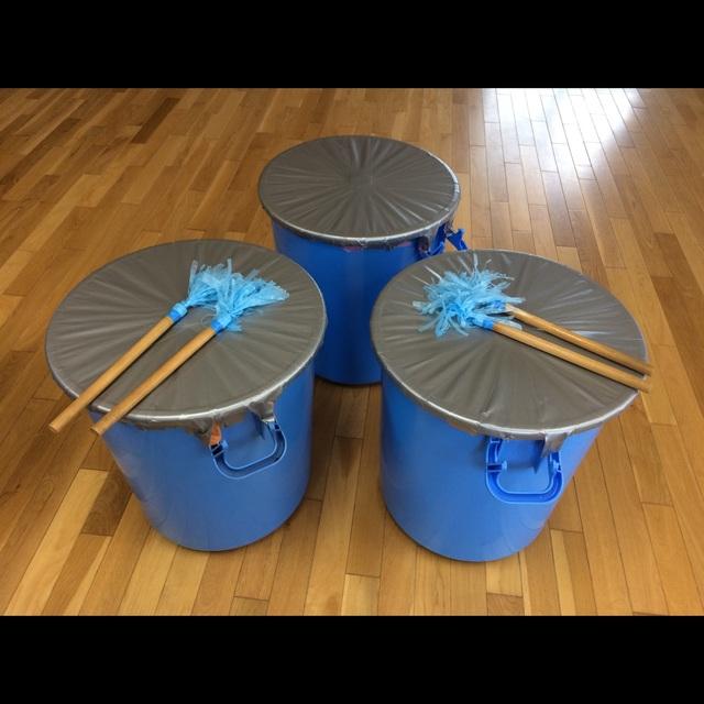 【アプリ投稿】【手作り太鼓】運動会の小道具