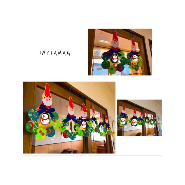 【アプリ投稿】1歳児☆クリスマスリース