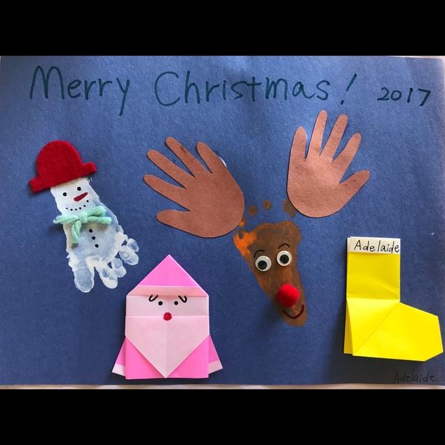 【アプリ投稿】0,1歳児 手型 足型 折り紙