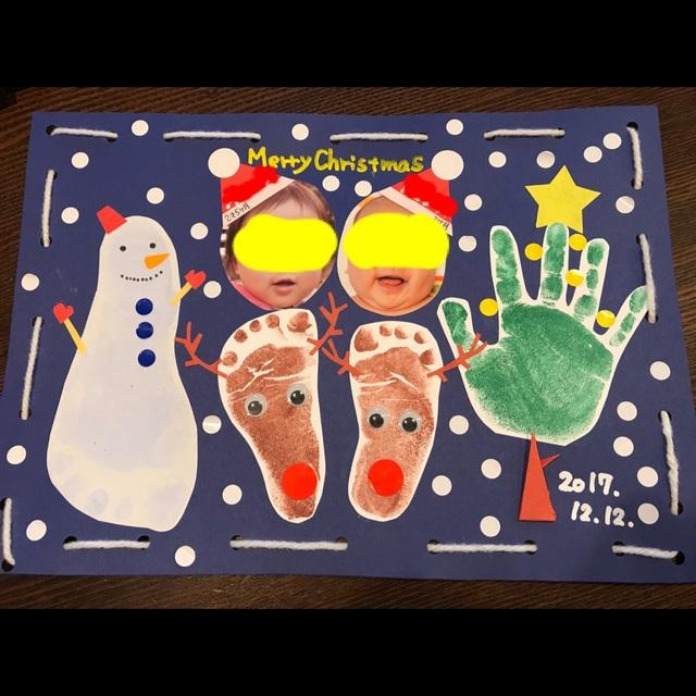 【アプリ投稿】【手形アート☆クリスマス】