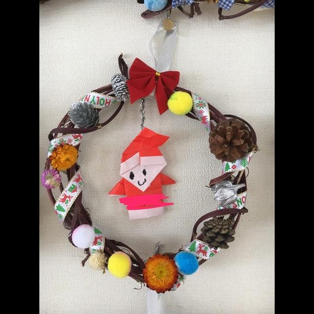 【アプリ投稿】さつま芋のツルでクリスマスリース☆