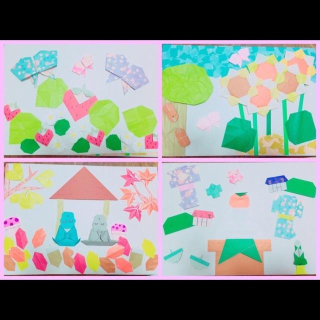 【アプリ投稿】【折り紙を使って、四季を表現する】