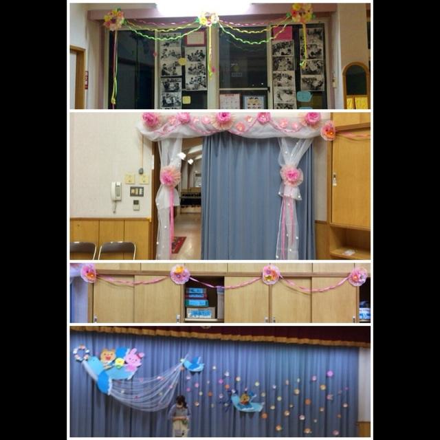 【アプリ投稿】卒園式の壁面・廊下飾り