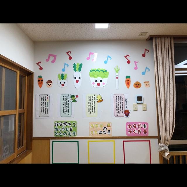【アプリ投稿】食育★ランチルーム壁面