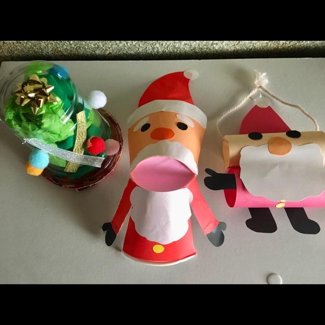 【アプリ投稿】クリスマスツリー、サンタパペット、サンタ飾り