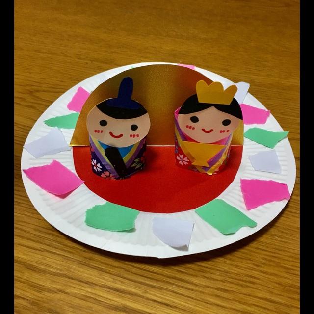 【アプリ投稿】紙皿雛人形