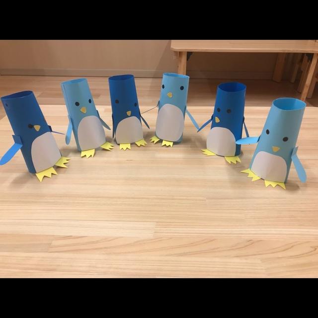 【アプリ投稿】画用紙立体ペンギン