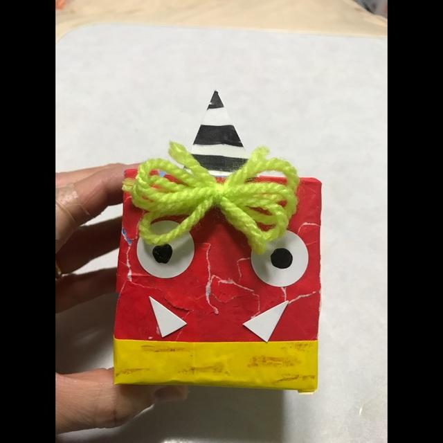 【アプリ投稿】節分鬼の豆入れ