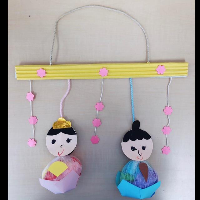 【アプリ投稿】不織布を使った吊るし雛(0歳児)