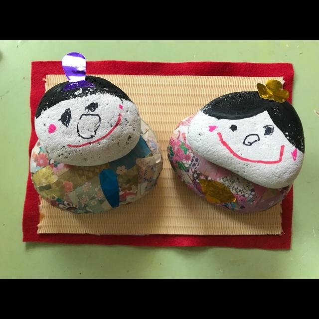 【アプリ投稿】『丸石でひな人形』