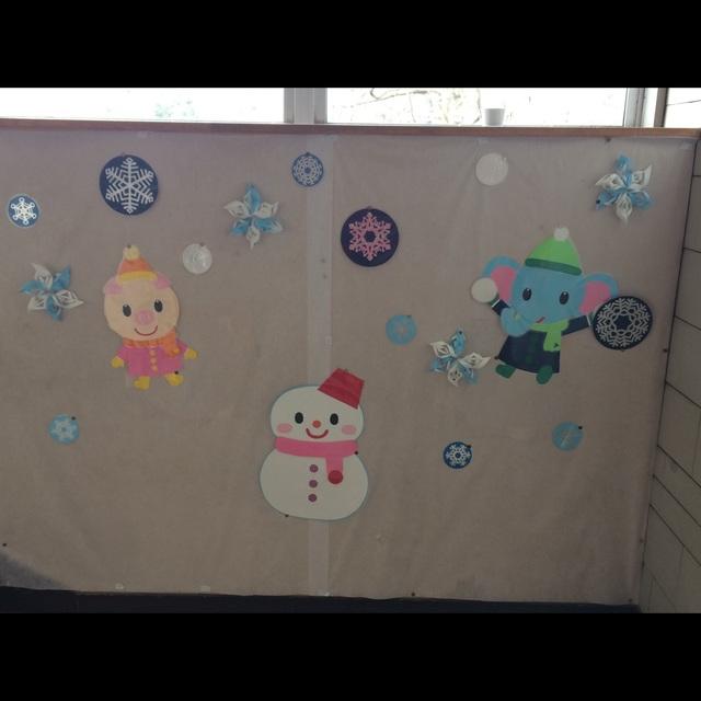 【アプリ投稿】2月雪だるま雪の結晶