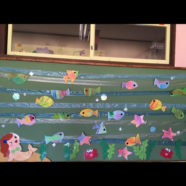 【アプリ投稿】2,3歳児夏の壁面