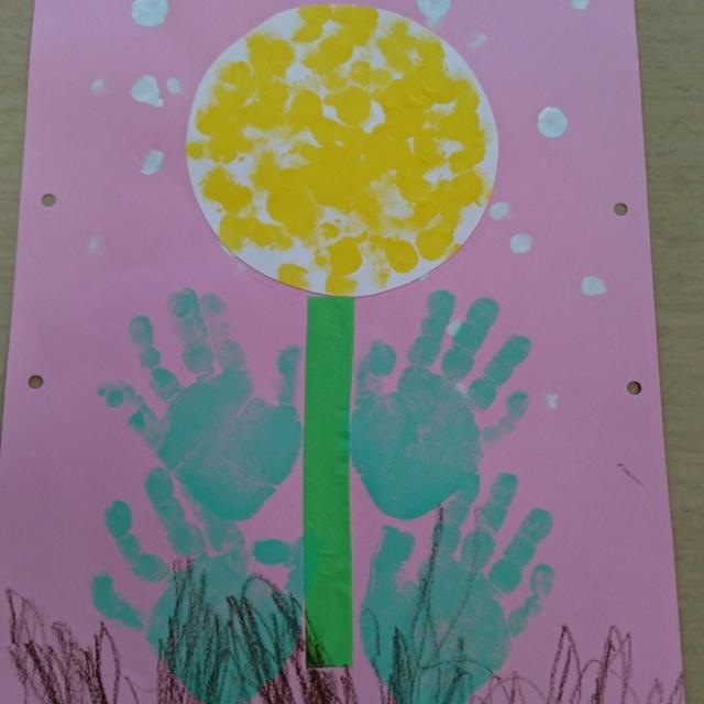 【アプリ投稿】4月の製作(0、1歳児) タンポポ