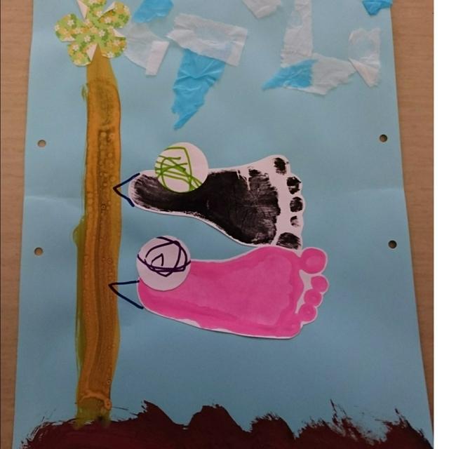 【アプリ投稿】5月の製作(0、1歳児)こいのぼり