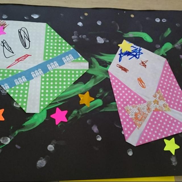 【アプリ投稿】7月の製作(0、1歳児)七夕の織姫と彦星