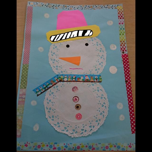 【アプリ投稿】12月の製作(0、1歳児)雪だるま