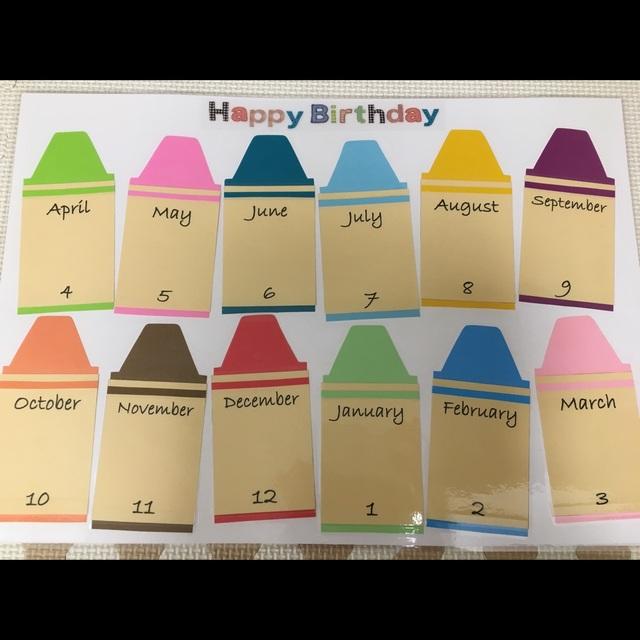 【アプリ投稿】【Birthday表①】クレヨンBox