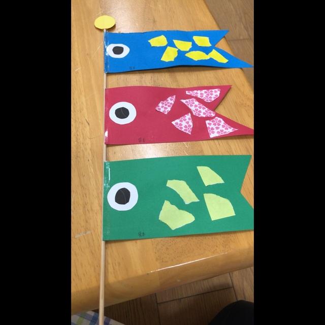 【アプリ投稿】こいのぼり製作2歳児
