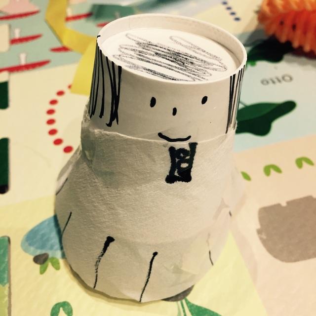 【アプリ投稿】▪︎紙コップ人形