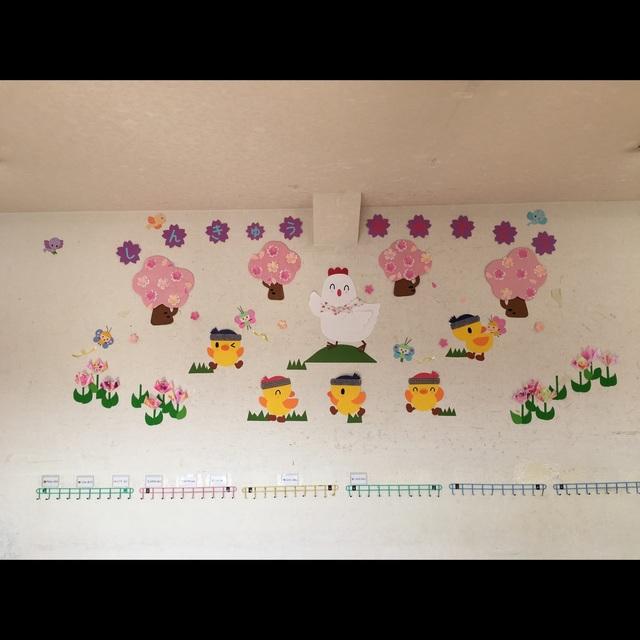 【アプリ投稿】春の壁面