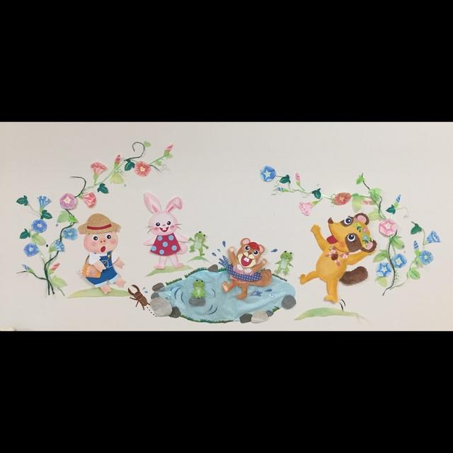 【アプリ投稿】【夏の壁面】3歳児保育室壁面