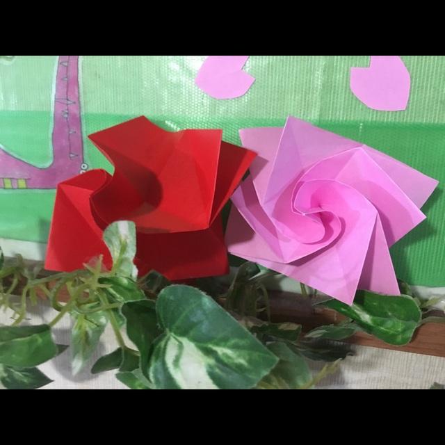 【アプリ投稿】母の日折り紙のバラ